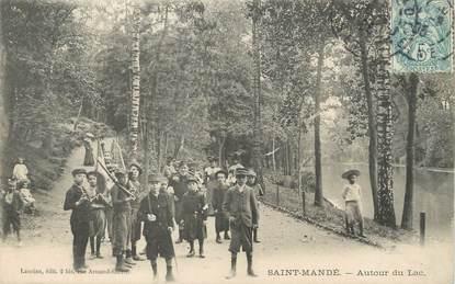 """/ CPA FRANCE 94 """"Saint Mandé, autour du lac"""""""