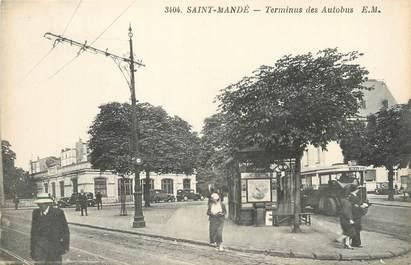 """/ CPA FRANCE 94 """"Saint Mandé, terminus des Autobus"""""""