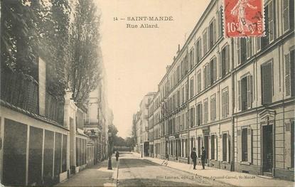 """/ CPA FRANCE 94 """"Saint Mandé, rue Allard"""""""