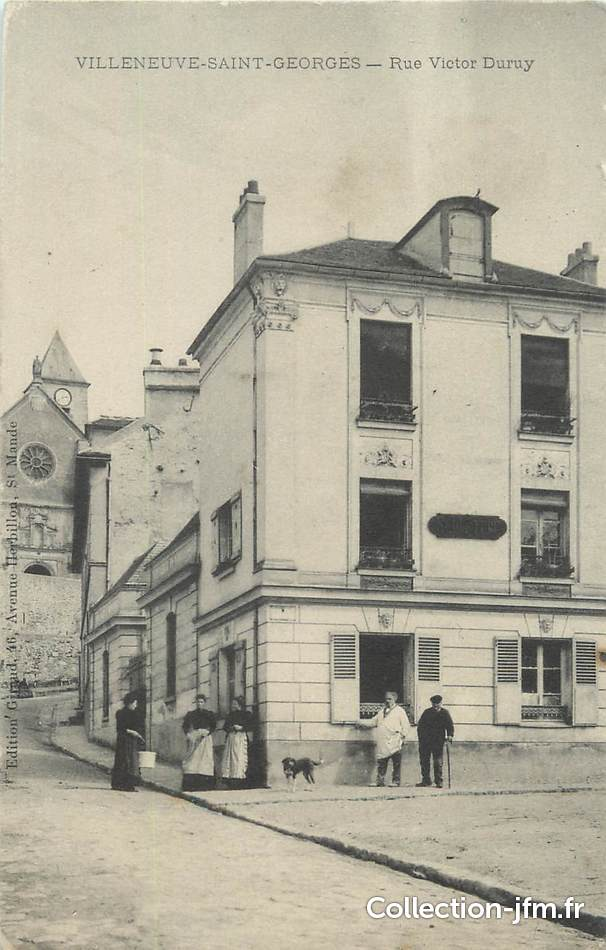 cpa france 94 villeneuve saint georges rue victor. Black Bedroom Furniture Sets. Home Design Ideas