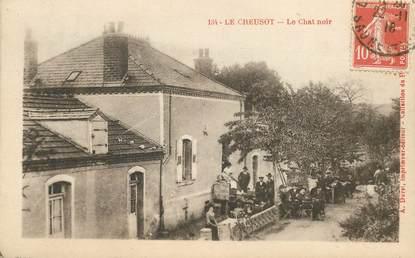 """CPA  FRANCE 71 """"Le Creusot, le chat noir"""""""