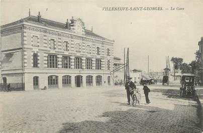 """/ CPA FRANCE 94 """"Villeneuve Saint Georges, la gare"""""""