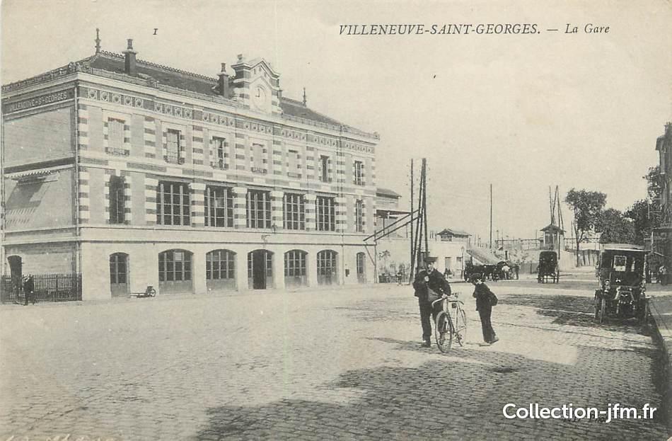 cpa france 94 villeneuve saint georges la gare 94. Black Bedroom Furniture Sets. Home Design Ideas