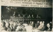 """71 SaÔne Et Loire CARTE PHOTO FRANCE 71 """"Chalon sur Saône, congrès de la Fédération nationale des Libres Penseurs de France et des colonies, 1936"""""""