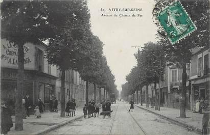 """/ CPA FRANCE 94 """"Vitry sur Seine, av du chemin de fer"""""""