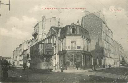 """/ CPA FRANCE 94 """"Vincennes, av de la République"""" / TRAMWAY"""