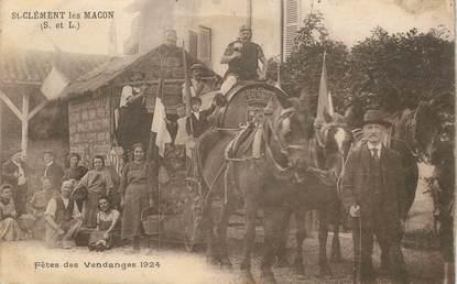 """CPA FRANCE 71 """"Saint Clément les Macon, fête des vendanges 1924"""""""