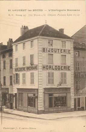 """CPA FRANCE 71 """"Saint Laurent les Macon, Bijouterie Horlogerie Bressane"""""""
