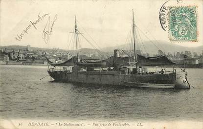 """CPA FRANCE 64 """"Hendaye, Le Stationnaire"""""""