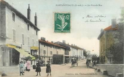 "CPA FRANCE 71 ""Pontaneveaux, la grande rue"""