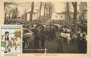 """71 SaÔne Et Loire CPA FRANCE 71 """"Louhans, Marché au Bétail"""" / VIGNETTE"""
