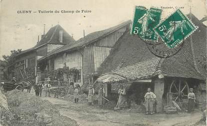 """CPA FRANCE 71 """"Cluny, tuilerie du champ de foire"""""""