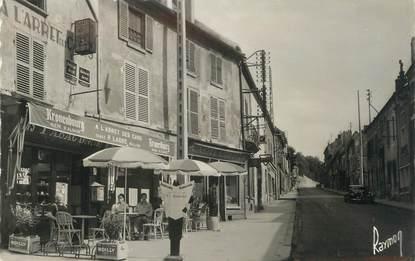 """/ CPSM FRANCE 95 """"Louvres, tabac, rue de Paris"""""""
