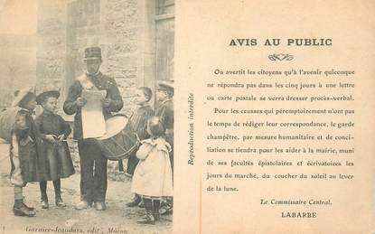 "CPA FRANCE 71 ""Le Garde champêtre"""