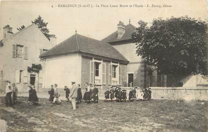 """/ CPA FRANCE 95 """"Margency, la place Louis Muret et l'école"""""""