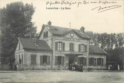 "/ CPA FRANCE 95 ""Luzarches, la gare"""