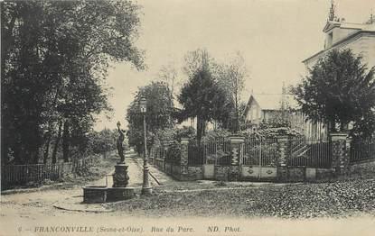 """/ CPA FRANCE 95 """"Franconville, rue du Parc"""""""