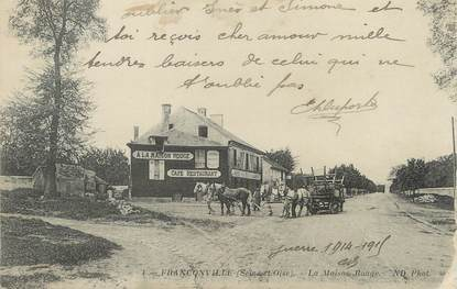 """/ CPA FRANCE 95 """"Franconville, la maison rouge"""""""