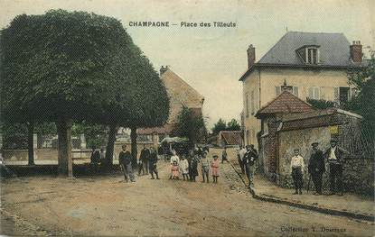 """/ CPA FRANCE 95 """"Champagne, place des Tilleuls"""""""