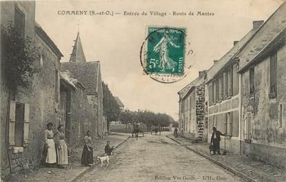 """/ CPA FRANCE 95 """"Commeny, entrée du village, route de Mantes"""""""