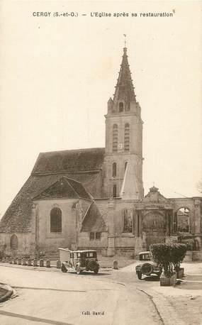 """/ CPA FRANCE 95 """"Cergy, l'église après sa restauration"""""""