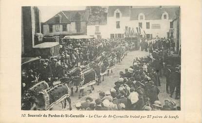 """CPA FRANCE 72 """"Souvenir du Pardon de Saint Corneille, le char"""""""
