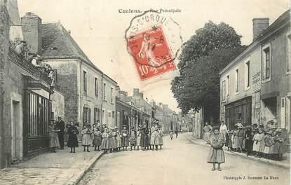 "CPA FRANCE 72 ""Coulans, la rue principale"""