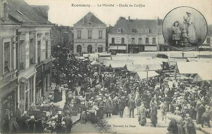 """CPA FRANCE 72 """"Ecommoy, le marché"""""""