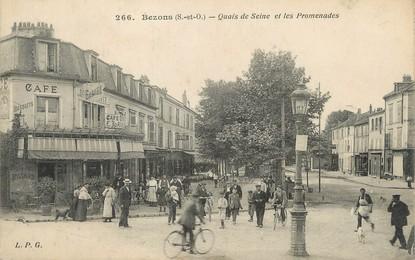 """/ CPA FRANCE 95 """"Bezons, quais de la Seine et les promenades"""""""