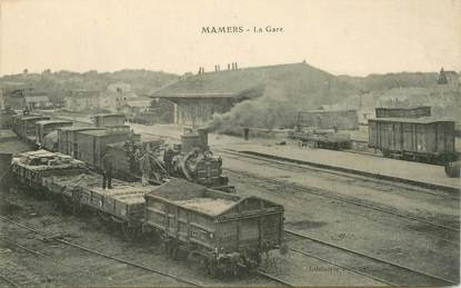 "CPA FRANCE 72 ""Mamers, la gare"" / TRAIN"