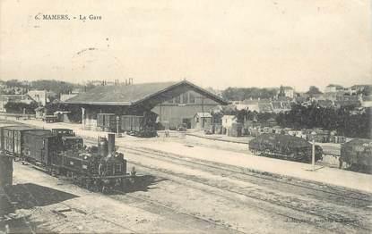 """CPA FRANCE 72 """"Mamers, la gare """" / TRAIN"""