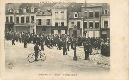 """CPA FRANCE 72 """"Mamers, Funérailles des Victimes, catastrophe du 7 juin 1904"""""""