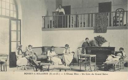 "/ CPA FRANCE 95 ""Boissy l'Aillerie, l'oiseau Bleu, un coin du Grand Salon"""