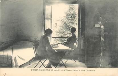 """/ CPA FRANCE 95 """"Boissy l'Aillerie, l'oiseau Bleu, une chambre"""""""