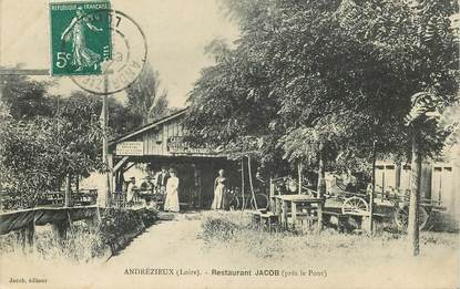 "CPA FRANCE 42 ""Andrézieux,  restaurant Jacob"""