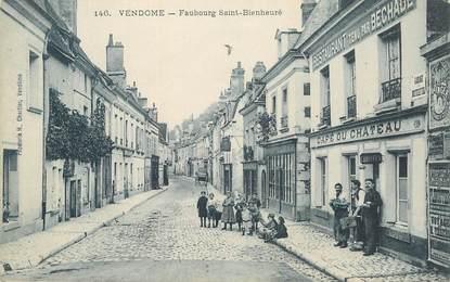 """CPA FRANCE 41 """"Vendôme, Faubourg Saint Bienheuré, café du chateau"""""""
