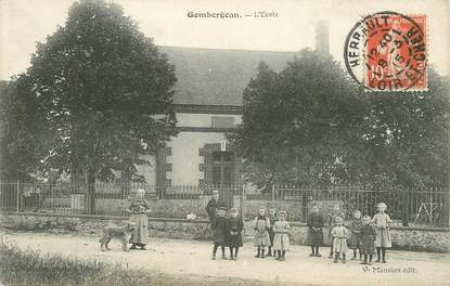 """CPA FRANCE 41 """"Gombergean, l'Ecole"""""""