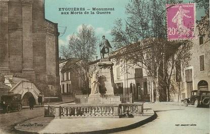 """CPA FRANCE 13 """"Eyguières, monument aux morts"""""""