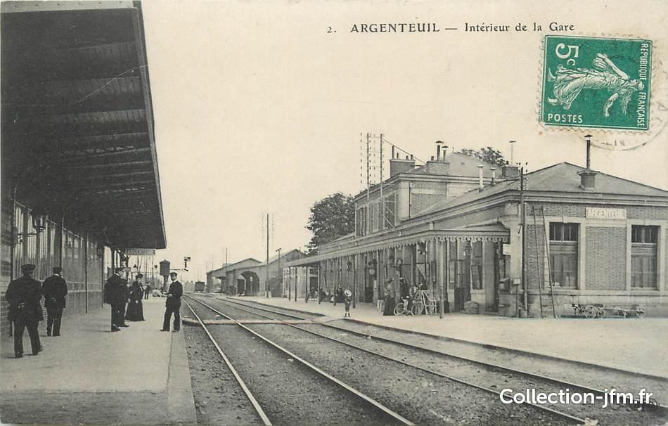 Cpa france 95 argenteuil int rieur de la gare 95 val d 39 oise argenteuil 95 ref - Decorateur interieur val d oise ...