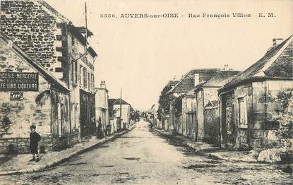 """/ CPA FRANCE 95 """"Auvers sur Oise, rue Fraçois Villon"""""""