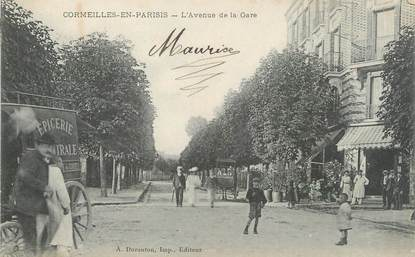 """/ CPA FRANCE 95 """"Cormeilles en Parisis, l'avenue de la gare"""""""