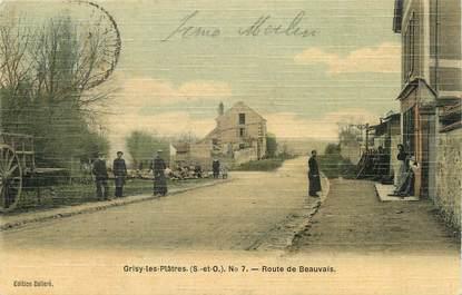"""/ CPA FRANCE 95 """"Grisy les Platres, route de Beauvais"""""""