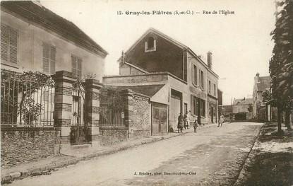 """/ CPA FRANCE 95 """"Grisy les Platres, rue de l'église"""""""