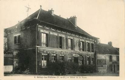 """/ CPA FRANCE 95 """"Grisy les Platres, hôtel de la poste """""""