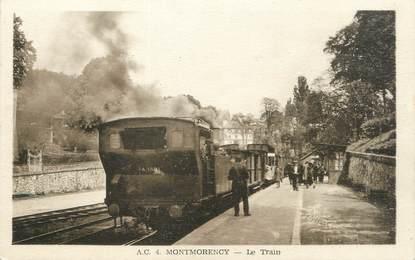 """/ CPA FRANCE 95 """"Montmorency, la train"""""""