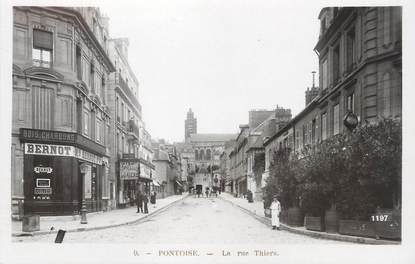 """/ CPSM FRANCE 95 """"Pontoise, la rue Thiers"""""""