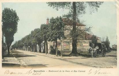 """/ CPA FRANCE 95 """"Sarcelles, bld de la gare et rue Carnot"""""""