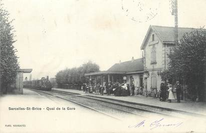 """/ CPA FRANCE 95 """"Sarcelles Saint Brice, quai de la gare"""""""