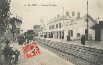 """/ CPA FRANCE 95 """"Sannois, intérieur de la gare """""""