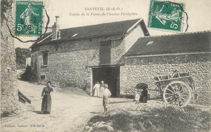 """/ CPA FRANCE 95 """"Santeuil, entrée de la ferme de l'ancien presbytère"""""""